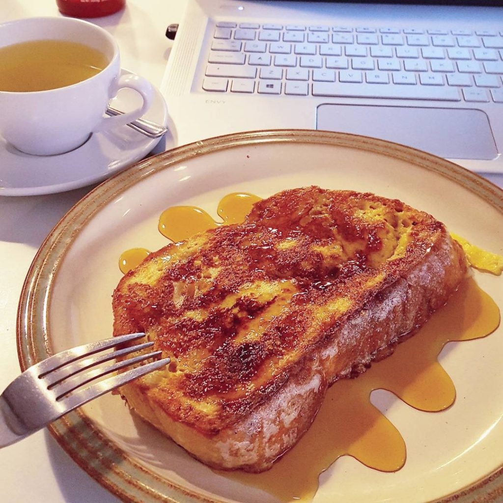 This doorstop of French toast with maple syrup is justhellip
