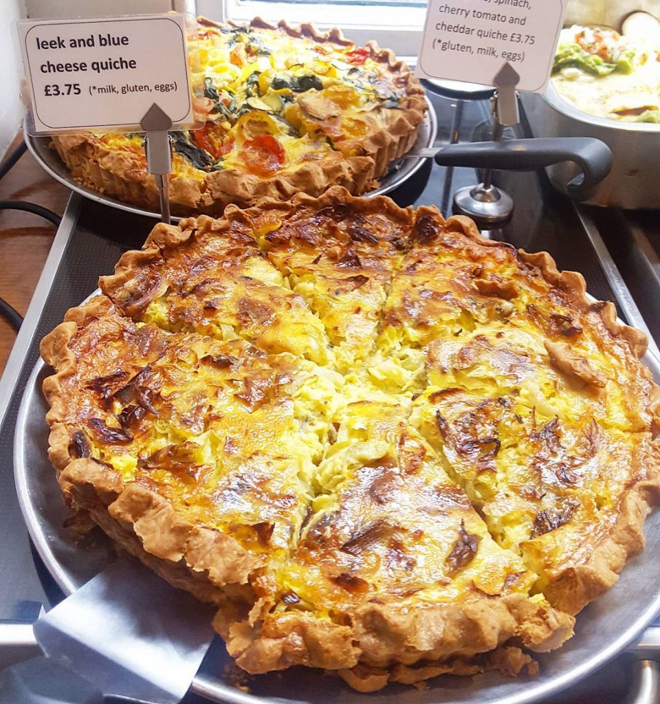 Ooofdoesnt this quiche at Mildreds look amazing??
