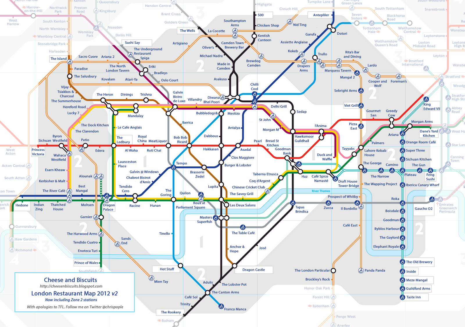 LONDON RESTAURANT TUBE MAP  A Spoonful Of Sugar