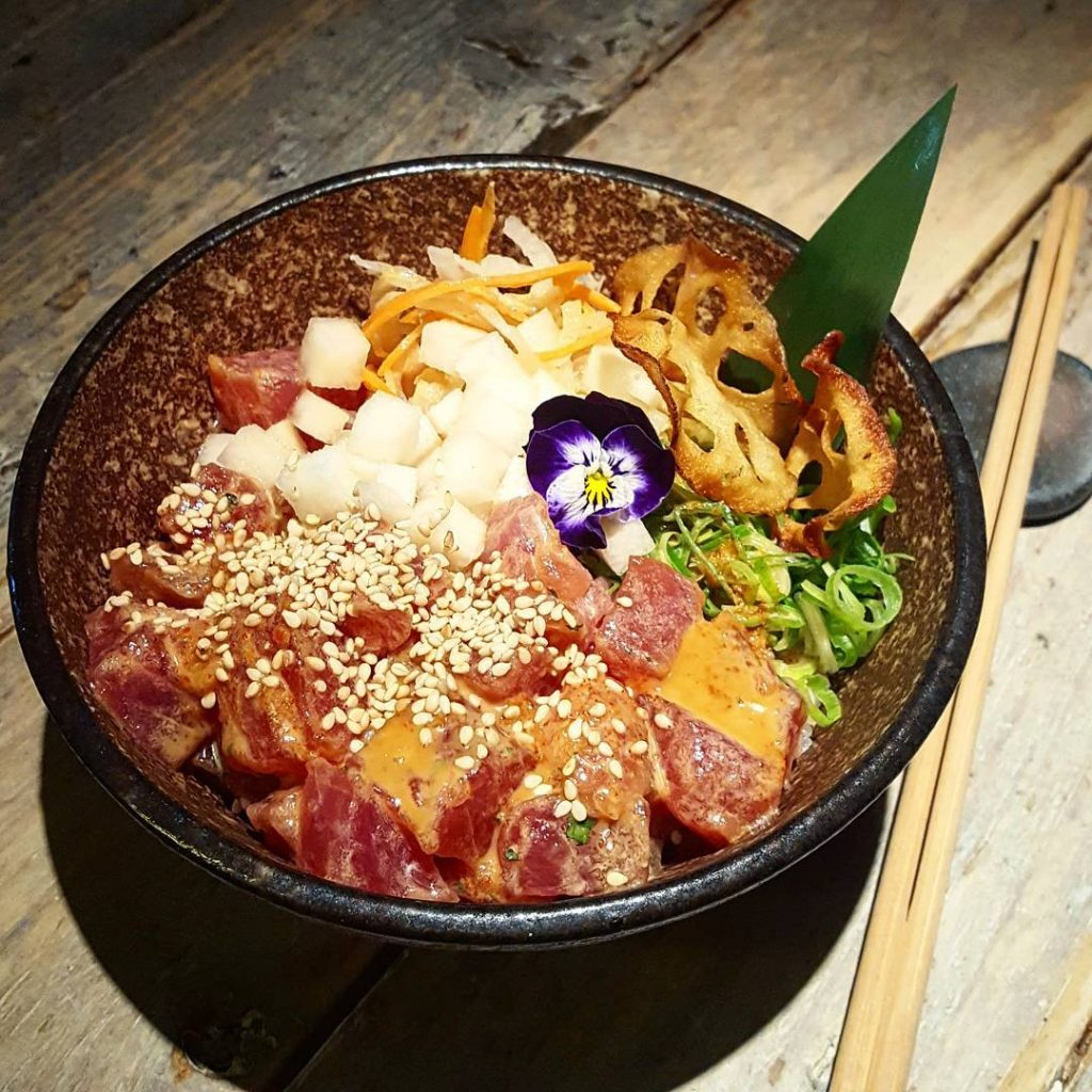 Delicious Ahi tuna pok at blackroe