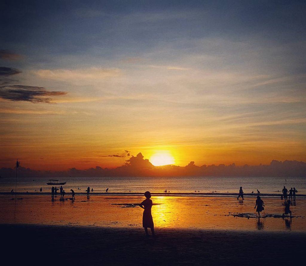 Breathtaking sunset on Jimbaran Beach tonight bali