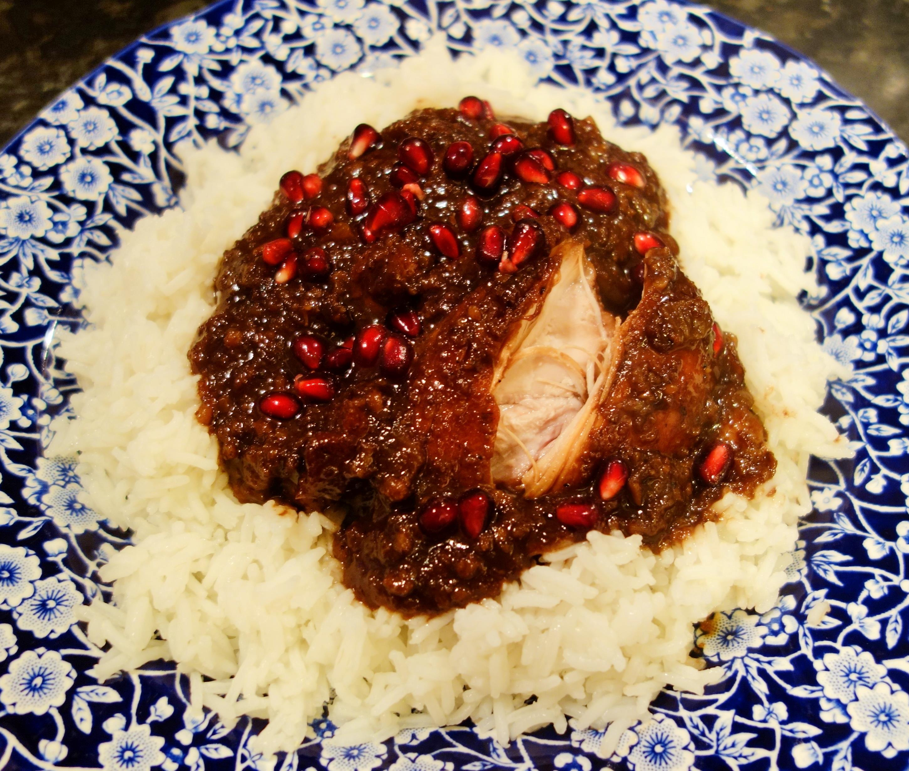 Watch Pomegranate and Walnut Chicken Stew Recipe video