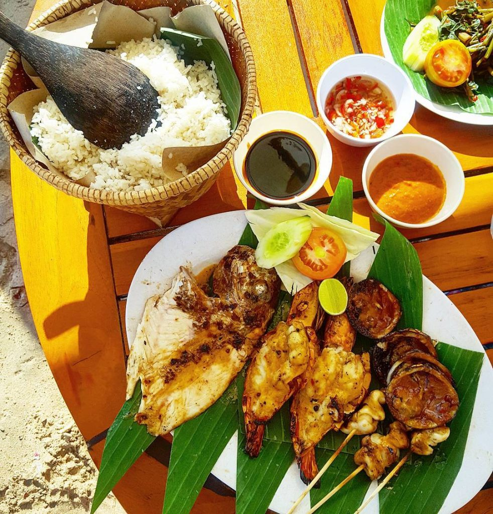 A fish feast on Jimbaran Beach