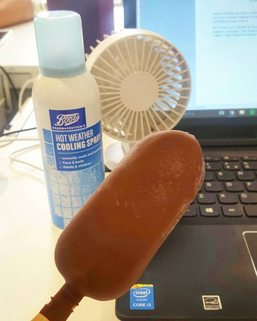 Trying everything to cool downcooling spray fan and a peanuthellip