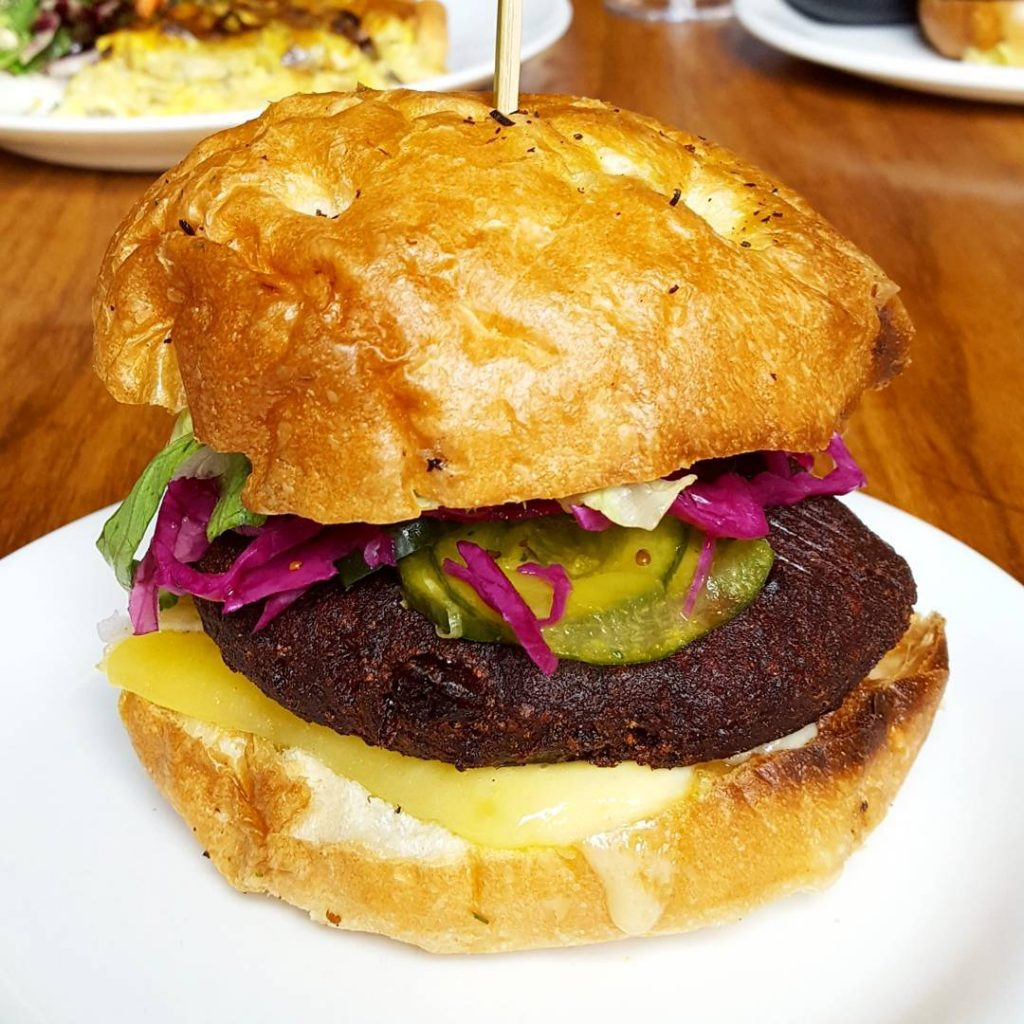 Fantastic tasting beetroot burger with white bean and dill inhellip