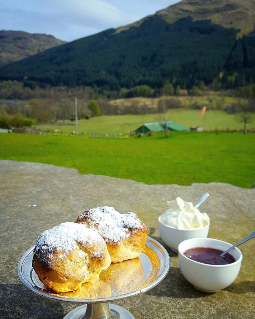 Warm scones baked to order! in the sun overlooking thehellip