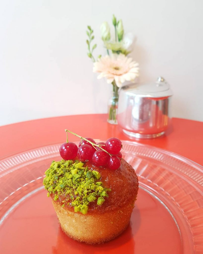 Pistachio Financier at new Glasgow bakery thebakerybyzique