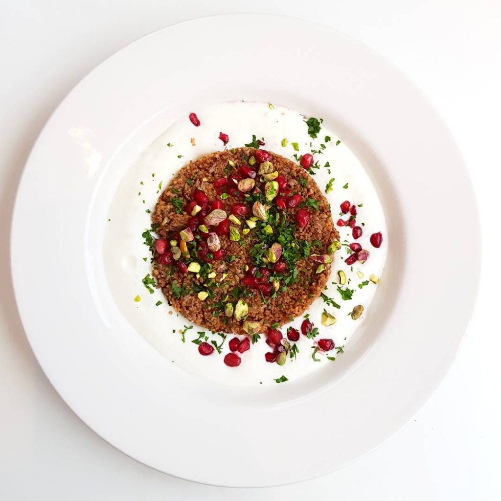 Braised Morrocan lamb shoulder with toasted couscous pomegranate pistachio pickledhellip