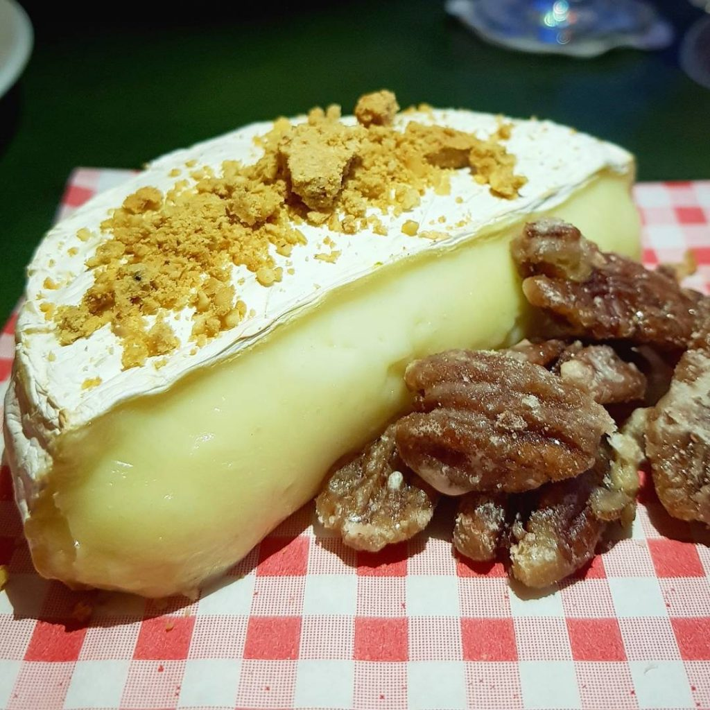 The highlight of the mealbaked camembert with candied pecans andhellip