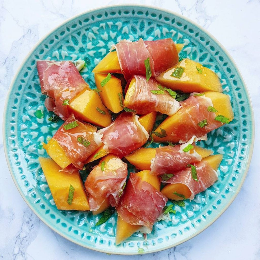 Cantaloupe melon with prosciutto San Daniele from celinospartick With extrahellip