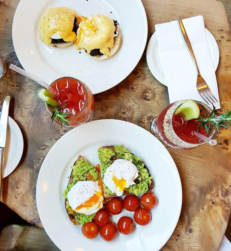 Brunch at cafegandolfi brunch breakfast avocado avocadotoast eggs eggsbenedict hollandaisehellip