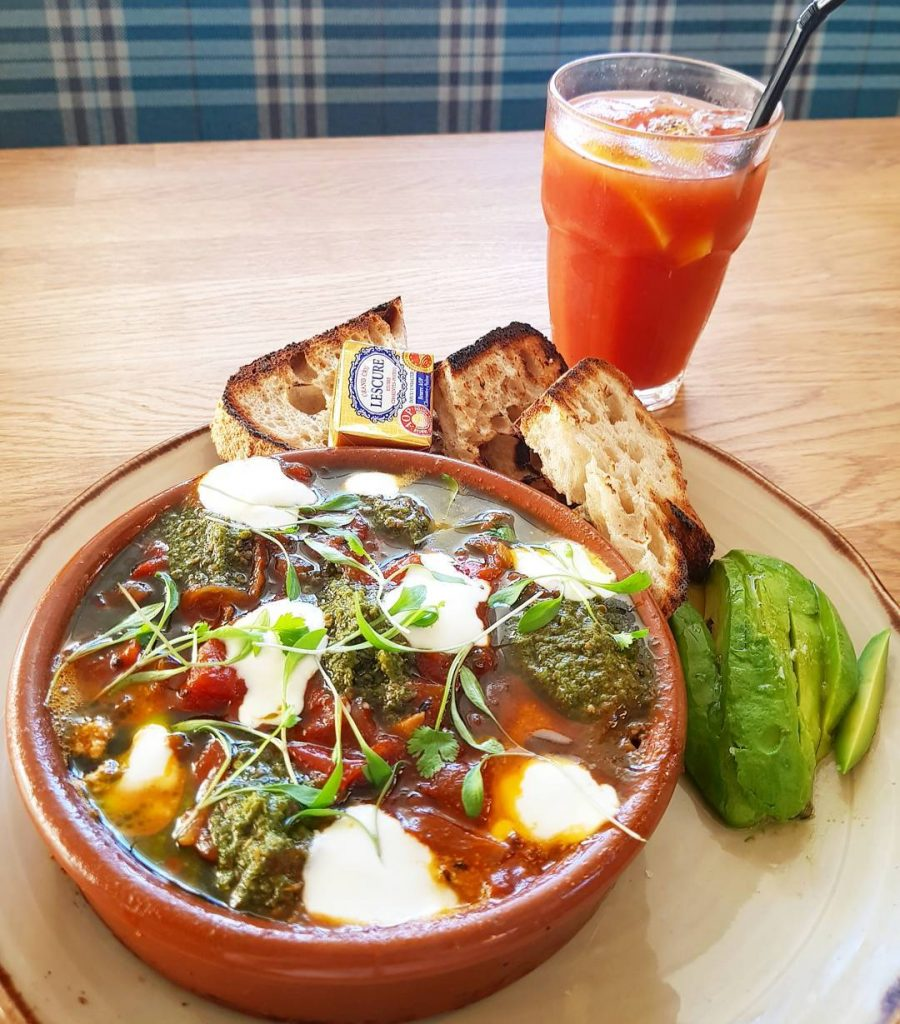 Sunday mornings are for shakshuka and bloody marys except Ihellip