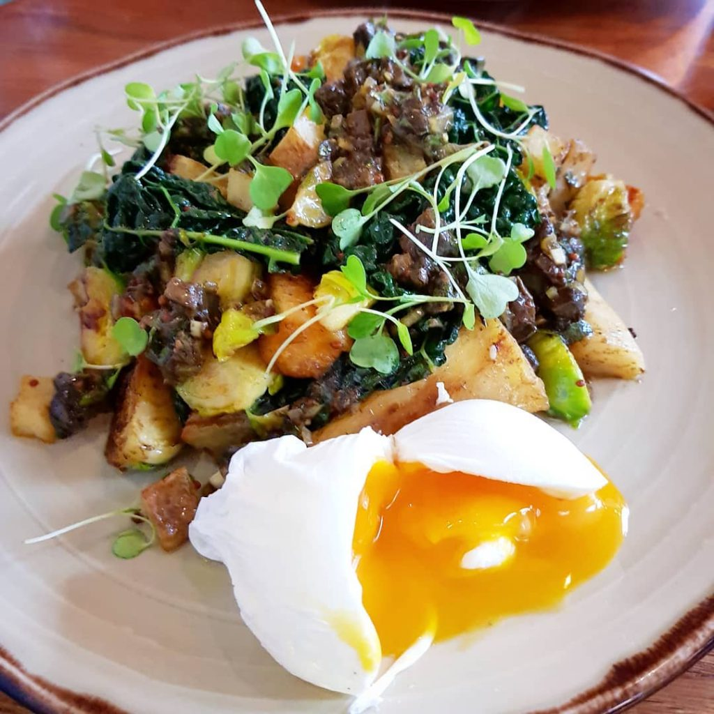 Winter veggie hash at partickduckclub with parsnips brussel sprouts bluehellip